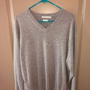 Peter Millar 100% Cashmere Sweater XL Grey